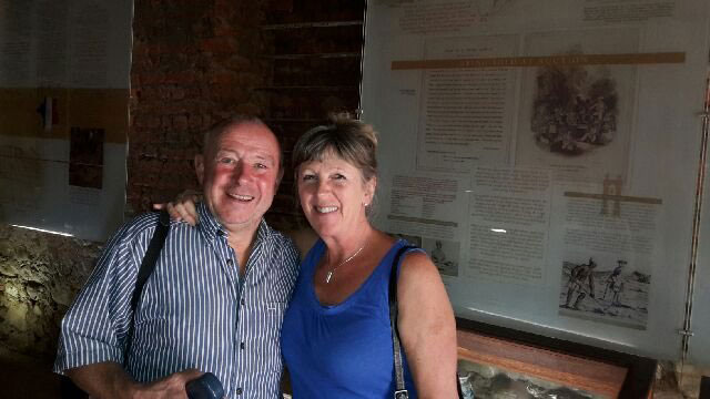 Doctors Nick and Susan Dawes visited Solms Delta with Pietman on 7th November. The tour was arranged by Audley Travel in Oxford, UK.