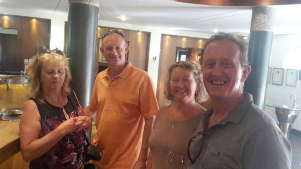 Julie & Shaun Astell and Susan & John Scarfe enjoying a tasting at Rustenburg Estate.  The day also included a detour to the Botanical Gardens in Stellenbosch for John, a keen bonsai enthusiast, to see the impressive collection.