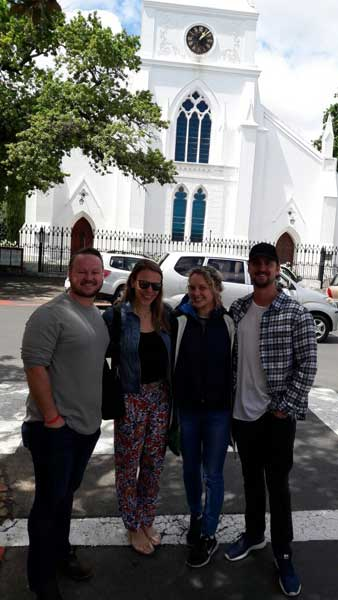 On holiday with their family from New York, these four visitors spent a day exploring the Winelands with Pietman.