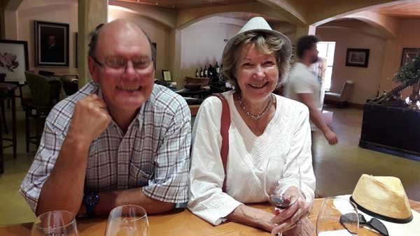 Peter and Shirley Harris enjoyed the splendour of the winelands in December. One of the estates visited was Kanonkop one of South Africa's most famous vineyards.