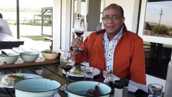Mr. Solomon Tessema from the USA visited various wine estates with Pietman in May. His tour and vacation was planned by the Boston office of Audley Travel.