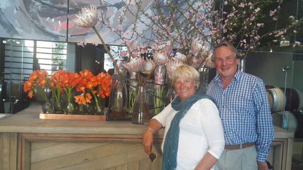 Peter and Jane Owens from South London chose September 2017 to visit the Winelands with Pietman. They stayed at The Last Word.