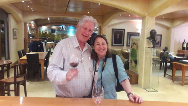 Charles and Priscilla from Michigan USA were with Pietman at the beginning of May. As enthusiastic artists they were able to visit several art museums as well as extending their interest and knowledge in cabernet wines.
