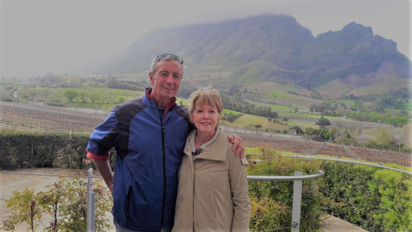 Jim and Diana Vaules from the USA who were also interested in history visited some special chosen vineyards in September of this year.