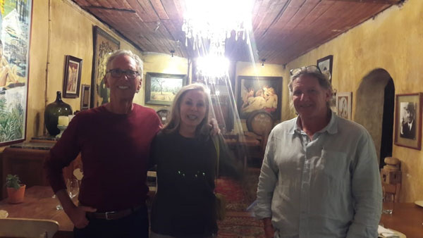 Whilst apologising for the picture quality Pietman was able to introduce Doug and Laura Crosby to estate owner Rijk Melck during a VIP tour visit to Muratie during November 2018.