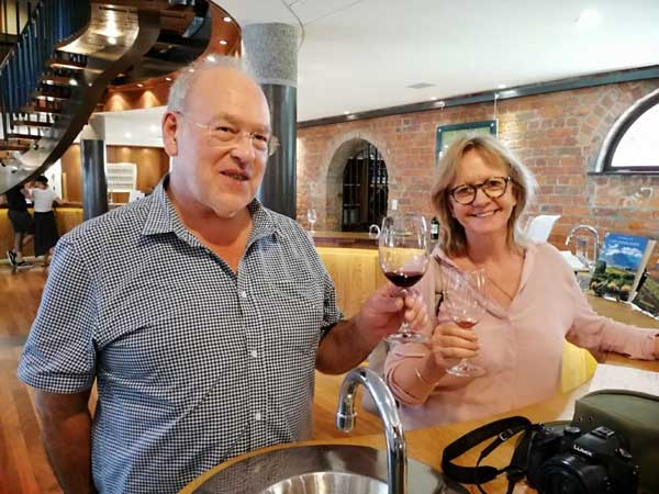 Edward and Jane Gray from London visited Rustenberg in February whose wines they drink regularly in the UK.