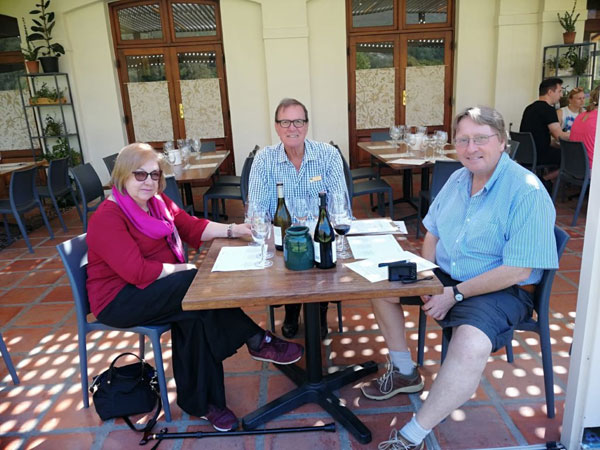 It's ten years since their first wine tour with Pietman for Paul and Margaret Rivers from Oxford in England. Their visit in April this year included a new selection of estates where they enjoyed a variety of tastings.